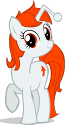 Size: 351x677 | Tagged: safe, artist:monkeyjay, oc, oc only, oc:karma, pony, unicorn, cutie mark, female, mare, part of a set, ponified, reddit, reference, simple background, solo, standing, transparent background, upvote, vector