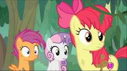 Size: 1665x941 | Tagged: safe, screencap, apple bloom, scootaloo, sweetie belle, growing up is hard to do, spoiler:s09e22, cropped, messy mane, older, older apple bloom, older cmc, older scootaloo, older sweetie belle, scratches, trio