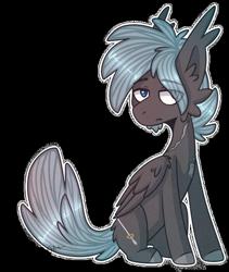 Size: 400x474 | Tagged: safe, artist:celiaurore, oc, oc only, oc:cygnus silvermane, pegasus, pony, chin fluff, male, scar, simple background, solo, stallion, transparent background