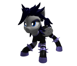 Size: 3500x3000 | Tagged: safe, artist:argos90, oc, oc only, oc:hail of fire, pegasus, 3d, black background, female, mare, simple background, smug, solo, transparent background