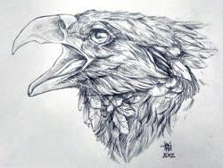 Size: 1645x1234 | Tagged: safe, artist:andreiadmiralov, oc, oc only, oc:der, griffon, bust, monochrome, portrait, sketch, solo
