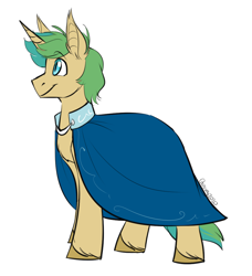Size: 950x1043 | Tagged: safe, artist:its-gloomy, oc, oc only, bat pony, bat pony unicorn, hybrid, pony, unicorn, cape, clothes, solo