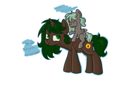 Size: 2248x1595 | Tagged: safe, artist:dumbwoofer, oc, oc only, oc:forest air, oc:pine hearts, pegasus, pony, unicorn, daughter, family, female, filly, mother and child, mother and daughter, simple background, transparent background