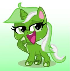 Size: 663x675 | Tagged: safe, artist:moonlightsorbetmspaint, oc, oc only, oc:upvote, derpibooru, my little pony: pony life, derpibooru ponified, meta, ponified, solo