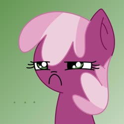 Size: 1000x1000 | Tagged: artist needed, source needed, safe, cheerilee, earth pony, pony, ..., angry, bust, cheerilee is unamused, female, frown, glare, gradient background, mare, reaction image, solo, unamused, unhappy
