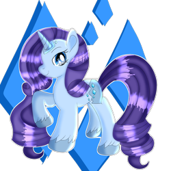 Size: 2000x2000 | Tagged: safe, artist:doraeartdreams-aspy, rarity, pony, unicorn, female, g5, g5 concept leak style, hooves, mare, raised hoof, rarity (g5), redesign, simple background, smiling, solo, transparent background