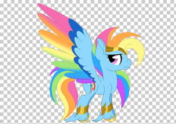Size: 728x513 | Tagged: artist needed, source needed, safe, rainbow dash, pegasus, pony, leak, spoiler:g5, bracer, colored wings, female, g5, hooves, jewelry, mare, multicolored wings, rainbow dash (g5), rainbow wings, redesign, solo, spread wings, tiara, wings