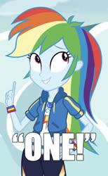 Size: 509x828 | Tagged: safe, edit, edited screencap, screencap, rainbow dash, equestria girls, equestria girls series, caption, cropped, female, image macro, meme, one, solo, text