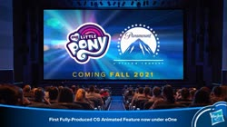 Size: 1587x887 | Tagged: safe, cgi, entertainment one, eone, g5, hasbro, implied g5, investor presentation, my little pony movie 2021, new york toy fair, paramount pictures