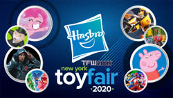 Size: 1280x720 | Tagged: safe, pinkie pie, my little pony: pony life, bumblebee, hasbro, mighty morphin power rangers, monopoly, nyc toy fair 2020, peppa pig, pj masks, power rangers, transformers