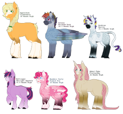 Size: 2240x2088 | Tagged: safe, artist:galaxypocketwatch, applejack, fluttershy, pinkie pie, rainbow dash, rarity, twilight sparkle, earth pony, pegasus, pony, unicorn, leak, spoiler:g5, applejack (g5), braid, coat markings, colored wings, earth pony twilight, female, fluttershy (g5), folded wings, g5, hooves, leonine tail, mane six, mane six (g5), mare, multicolored wings, pegasus pinkie pie, pinkie pie (g5), race swap, rainbow dash (g5), rainbow wings, raised hoof, rarity (g5), simple background, transparent background, twilight sparkle (g5), unicorn fluttershy, wings