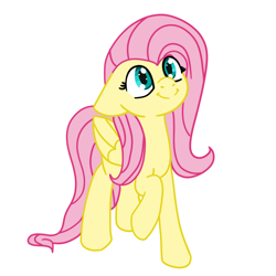 Size: 1080x1080   Tagged: safe, artist:dark shadow, fluttershy, pegasus, pony, cute, female, floppy ears, mare, shyabetes, simple background, solo, transparent background