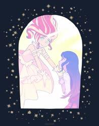 Size: 2040x2608 | Tagged: safe, artist:dotoriii, sunset shimmer, twilight sparkle, human, equestria girls, daydream shimmer, humanized, puella magi madoka magica