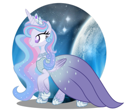 Size: 1280x1110 | Tagged: safe, artist:tenderrain46, oc, oc only, oc:universe starlight, alicorn, pony, alicorn oc, clothes, crown, dress, female, gala dress, jewelry, mare, regalia, simple background, solo, transparent background