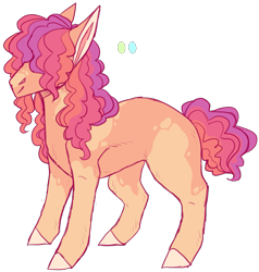 Size: 1819x1909 | Tagged: safe, artist:sleepy-nova, oc, oc only, oc:tutti frutti, earth pony, pony, male, offspring, parent:cheese sandwich, parent:pinkie pie, parents:cheesepie, simple background, solo, stallion, transparent background