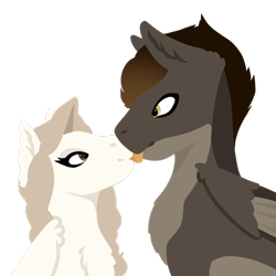 Size: 1000x1000   Tagged: safe, artist:catdork, oc, pegasus, pony, boop, cute, licking, tongue out