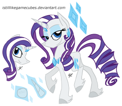 Size: 1680x1458 | Tagged: safe, artist:istilllikegamecubes, rarity, pony, unicorn, female, g5, g5 concept leak style, hooves, mare, raised hoof, rarity (g5), redesign, simple background, smiling, solo, transparent background