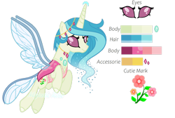 Size: 1280x858 | Tagged: safe, artist:pink-soul27, oc, oc only, oc:summer, changepony, hybrid, offspring, parent:princess celestia, parent:thorax, parents:thoralestia, reference sheet, simple background, solo, transparent background