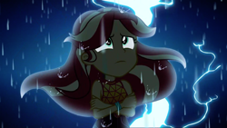 Size: 1920x1080 | Tagged: safe, screencap, sunset shimmer, equestria girls, equestria girls series, let it rain, spoiler:eqg series, spoiler:eqg series (season 2), lightning, rain, solo