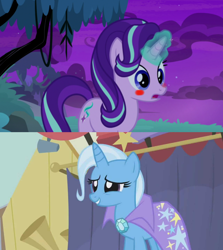 Size: 1280x1436 | Tagged: safe, edit, edited screencap, screencap, starlight glimmer, trixie, boast busters, student counsel, spoiler:s09e11, female, lesbian, shipping, shipping domino, startrix