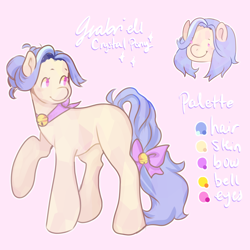 Size: 2000x2000 | Tagged: safe, artist:poofindi, oc, oc:gabriell, crystal pony, reference sheet