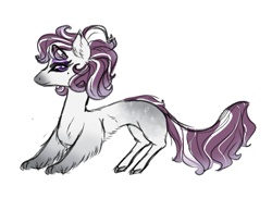 Size: 1100x800 | Tagged: safe, artist:miyathegoldenflower, oc, oc only, draconequus, hybrid, interspecies offspring, offspring, parent:discord, parent:rarity, parents:raricord, simple background, solo, white background