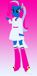Size: 274x561 | Tagged: safe, artist:princessofdeadroses, artist:selenaede, trixie, human, elements of insanity, equestria girls, alternate cutie mark, alternate universe, base used, cape, clothes, equestria girls style, equestria girls-ified, hairpin, magic mare, shoes