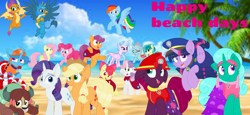 Size: 2340x1080 | Tagged: safe, artist:rainbow eevee, artist:徐詩珮, apple bloom, applejack, fizzlepop berrytwist, fluttershy, gallus, glitter drops, ocellus, pinkie pie, rainbow dash, rarity, sandbar, scootaloo, silverstream, smolder, spring rain, sweetie belle, tempest shadow, twilight sparkle, yona, alicorn, unicorn, series:sprglitemplight diary, series:sprglitemplight life jacket days, series:springshadowdrops diary, series:springshadowdrops life jacket days, alternate universe, bisexual, broken horn, clothes, cute, cutie mark crusaders, equestria girls outfit, female, filly, glitterbetes, glitterlight, glittershadow, horn, lesbian, lifeguard, lifeguard spring rain, mane six, paw patrol, polyamory, shipping, sprglitemplight, springbetes, springdrops, springlight, springshadow, springshadowdrops, student six, tempestbetes, tempestlight, twilight sparkle (alicorn), wallpaper