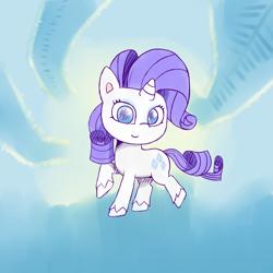 Size: 1000x1000 | Tagged: safe, artist:becauseyay, rarity, pony, unicorn, my little pony: pony life, cutie mark, female, mare, simple background, smiling, solo, unshorn fetlocks