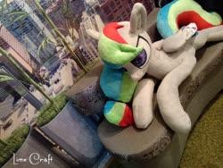 Size: 720x540 | Tagged: safe, artist:limecraft, oc, oc:unya, pegasus, pony, plushie