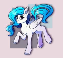 Size: 1852x1716 | Tagged: safe, artist:silverst, oc, oc only, oc:tavifly, pegasus, pony, birthday gift, female, mare, pegasus oc, purple eyes, solo, wings