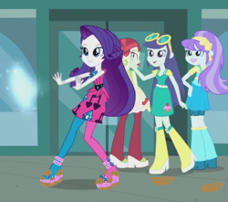 Size: 752x665 | Tagged: safe, artist:thedarkpony, edit, edited screencap, screencap, rarity, human, equestria girls, life is a runway, clothes, cropped, female, mud, mud edit, shoes