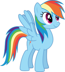 Size: 1150x1265   Tagged: safe, artist:frownfactory, rainbow dash, pegasus, pony, the ticket master, .svg available, cute, dashabetes, female, mare, simple background, smiling, solo, spread wings, svg, transparent background, vector, wings