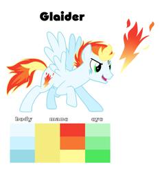 Size: 1256x1348 | Tagged: safe, artist:soarindash10, oc, oc only, pony, color palette, cutie mark, next generation, offspring, parent:rainbow dash, parent:soarin', parents:soarindash, pegasus oc, simple background, solo