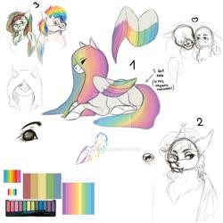 Size: 1024x1024 | Tagged: safe, artist:anelaponela, oc, bat pony, pegasus, alternate universe, cyrillic, female, headcanon, headcanon in the description, lesbian, mare, pegasus oc, rainbow, russian, travelersverse