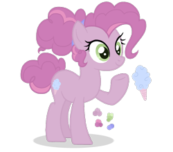 Size: 814x717   Tagged: safe, artist:basecbitch, artist:magicuniclaws, oc, oc:cotton candy, earth pony, base used, cutie mark, female, mare, offspring, parent:pinkie pie, parent:pokey pierce, parents:pokeypie, simple background, solo, transparent background