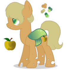 Size: 838x790   Tagged: safe, artist:magicuniclaws, artist:n0va-bases, oc, oc:rotting apple, changepony, earth pony, hybrid, base used, cutie mark, female, interspecies offspring, magical lesbian spawn, mare, offspring, parent:applejack, parent:queen chrysalis, parents:chrysajack, simple background, solo, transparent background