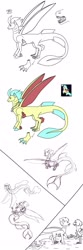 Size: 1600x4800   Tagged: safe, artist:anelaponela, princess skystar, oc, hippocampus, merpony, sea pony, my little pony: the movie, alternate design, alternate universe, cyrillic, headcanon, headcanon in the description, redesign, russian, travelersverse