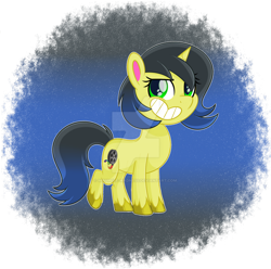 Size: 1600x1586 | Tagged: safe, artist:missmele-madness, oc, oc:pauly sentry, pony, unicorn, my little pony: pony life, deviantart watermark, female, mare, obtrusive watermark, solo, watermark