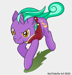 Size: 1200x1248 | Tagged: safe, artist:redpalette, firelight, unicorn, clothes, cute, male, purple, running, stallion