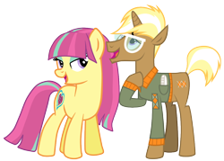 Size: 1046x750 | Tagged: safe, artist:hannaspeert123, artist:shnakes, edit, sour sweet, trenderhoof, pony, equestria girls ponified, female, male, ponified, shipping, sourhoof, straight