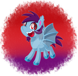 Size: 1600x1565 | Tagged: safe, artist:missmele-madness, oc, oc:quick draw, bat pony, pony, my little pony: pony life, deviantart watermark, male, obtrusive watermark, solo, stallion, watermark
