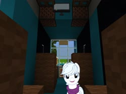 Size: 2048x1536 | Tagged: safe, artist:dashiesparkle, edit, editor:topsangtheman, double diamond, earth pony, pony, chevrolet express, interior, looking at you, minecraft