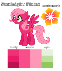 Size: 1405x1619 | Tagged: safe, artist:soarindash10, oc, oc only, pony, base used, color palette, cutie mark, next generation, offspring, parent:big macintosh, parent:fluttershy, parents:fluttermac, solo