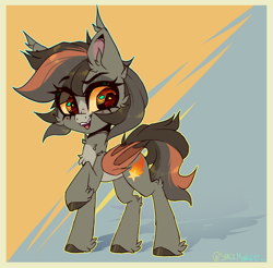 Size: 2300x2260 | Tagged: safe, artist:pidge--podge, oc, oc:startrail, bat pony, pony, female, mare, solo