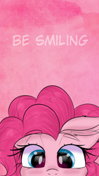 Size: 1080x1920 | Tagged: safe, artist:janelearts, pinkie pie, pony, cute, eye clipping through hair, part of a set, solo, wallpaper