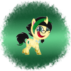 Size: 1280x1277 | Tagged: safe, artist:missmele-madness, oc, changepony, hybrid, my little pony: pony life, deviantart watermark, glasses, male, obtrusive watermark, solo, watermark