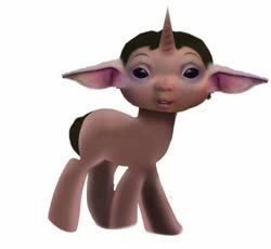 Size: 577x531 | Tagged: safe, artist:samueldavillo, pony, unicorn, baby, baby yoda, crossover, cursed image, ice age, not safe for woona, not salmon, ponified, star wars, wat
