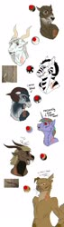 Size: 1024x3584 | Tagged: safe, artist:anelaponela, oc, cat, deer, goat, sheep, unicorn, vampire, alternate universe, cyrillic, headcanon, headcanon in the description, leader, male, ram, russian, travelersverse, vampirism