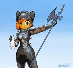 Size: 1642x1516   Tagged: safe, artist:lunebat, oc, oc:camber, knight, solo